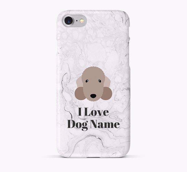 'I Love Your Dog' Phone Case with Bedlington Terrier Icon