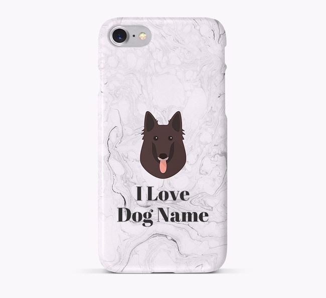 'I Love Your Dog' Phone Case with Belgian Groenendael Icon