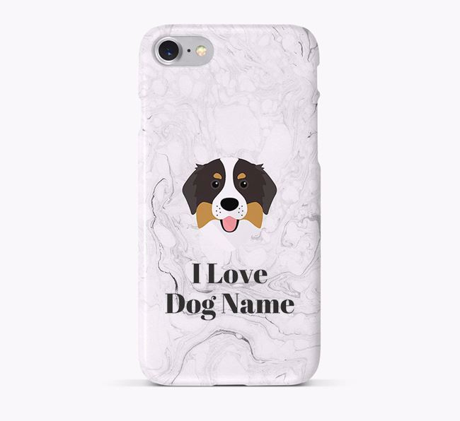 'I Love Your Dog' Phone Case with Bernese Mountain Dog Icon