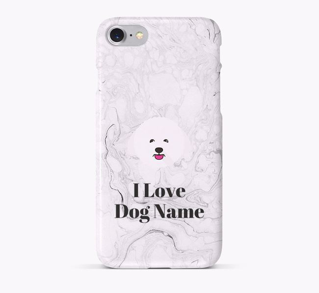 'I Love Your Dog' Phone Case with Bichon Frise Icon