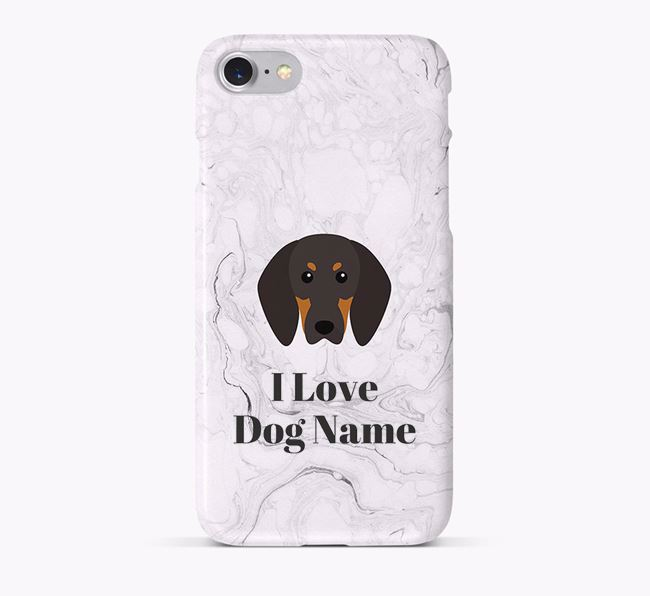 'I Love Your Dog' Phone Case with Black and Tan Coonhound Icon