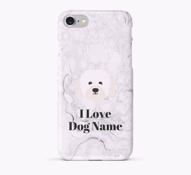 'I Love Your Dog' Phone Case with Bolognese Icon