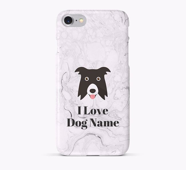 'I Love Your Dog' Phone Case with Border Collie Icon