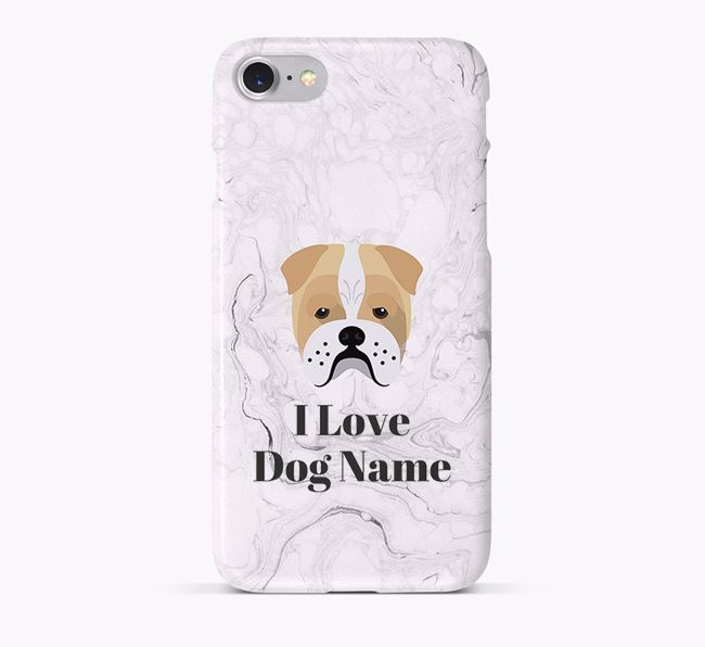 'I Love Your Dog' Phone Case with Bull Pei Icon