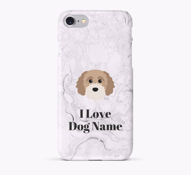 'I Love Your Dog' Phone Case with Cavapoochon Icon