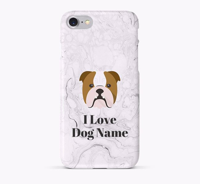 'I Love Your Dog' Phone Case with English Bulldog Icon