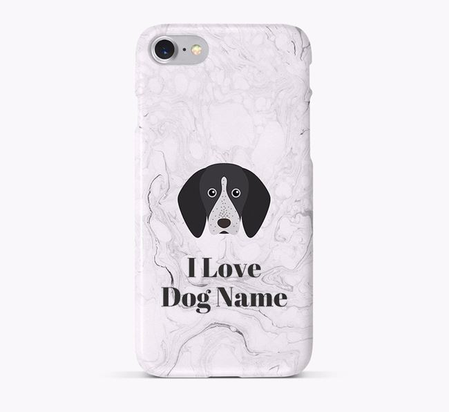 'I Love Your Dog' Phone Case with English Coonhound Icon