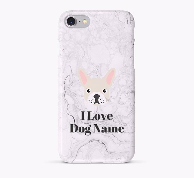 'I Love Your Dog' Phone Case with French Bulldog Icon