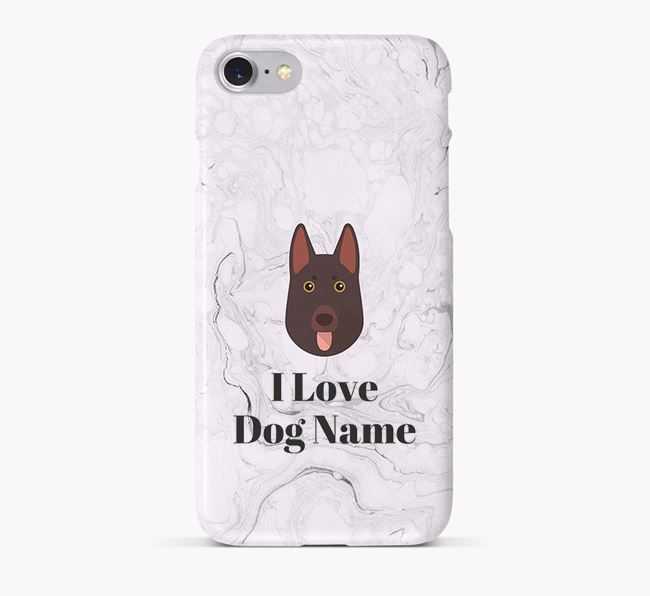 'I Love Your Dog' Phone Case with German Shepherd Icon