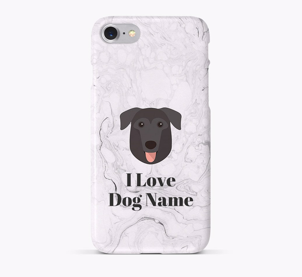 'I Love {dogsName}' Phone Case with German Sheprador Icon