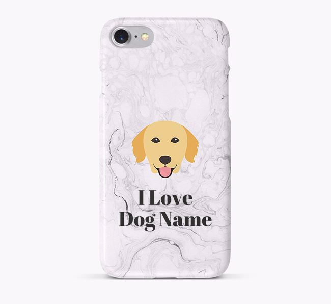 'I Love Your Dog' Phone Case with Golden Retriever Icon