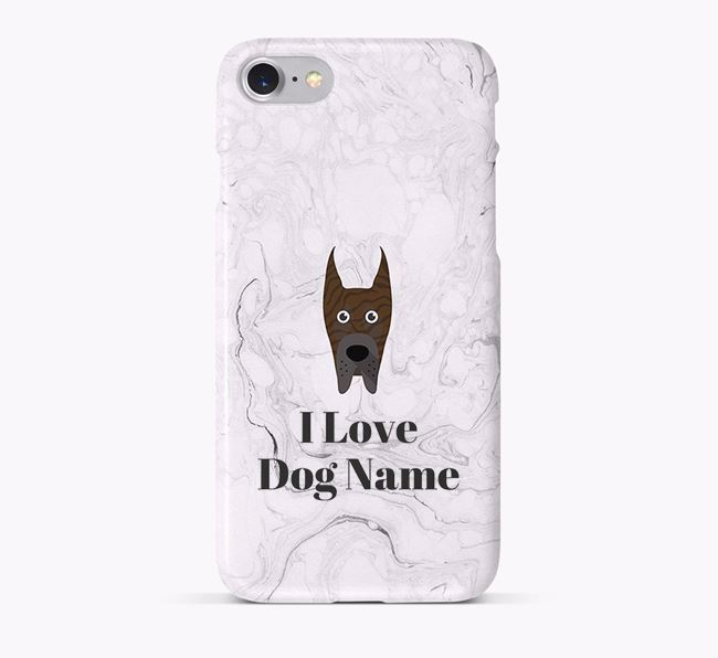 'I Love Your Dog' Phone Case with Great Dane Icon