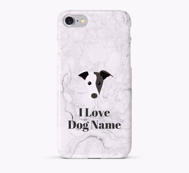 'I Love Your Dog' Phone Case with Greyhound Icon