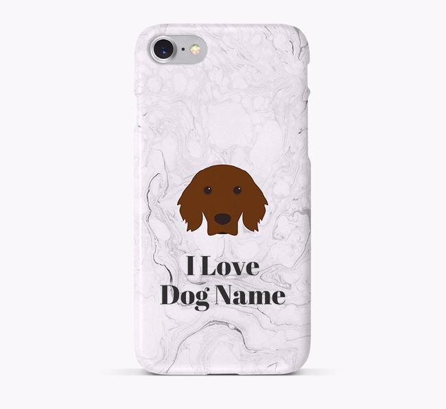 'I Love Your Dog' Phone Case with Irish Setter Icon