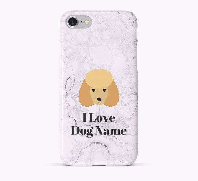 'I Love Your Dog' Phone Case with Miniature Poodle Icon