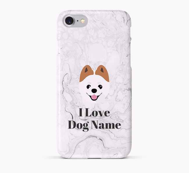 'I Love Your Dog' Phone Case with Pomeranian Icon