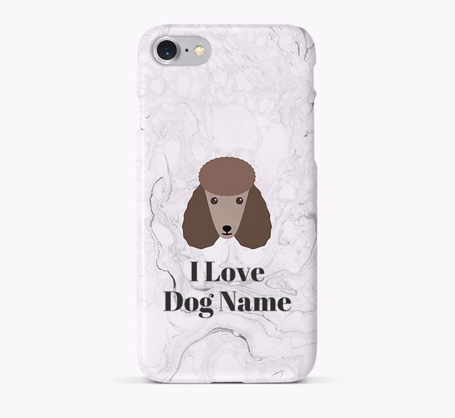 'I Love Your Dog' Phone Case with Poodle Icon
