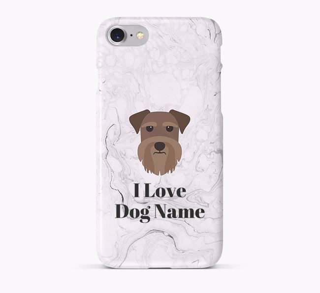'I Love Your Dog' Phone Case with Schnauzer Icon