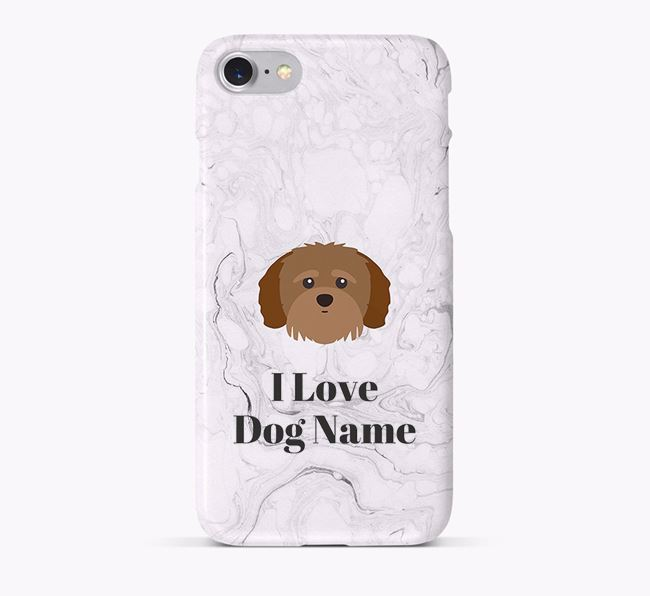 'I Love Your Dog' Phone Case with Shih-poo Icon