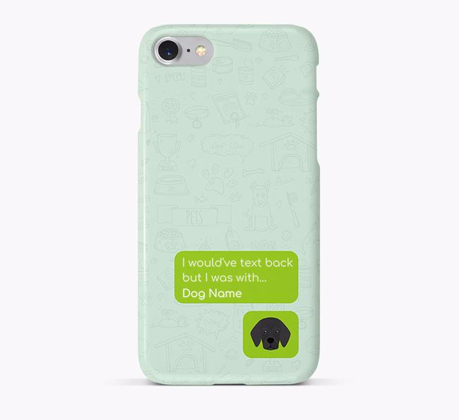 'Text Back' Phone Case with Bassugg Icon