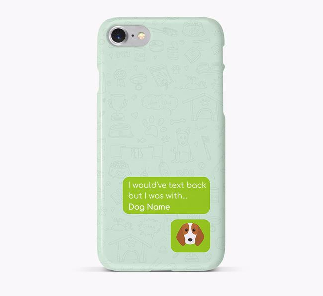 'Text Back' Phone Case with Beagle Icon