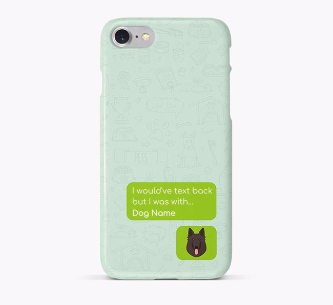 'Text Back' Phone Case with Belgian Groenendael Icon