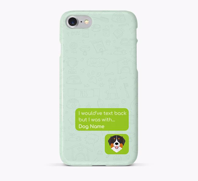 'Text Back' Phone Case with Bernese Mountain Dog Icon