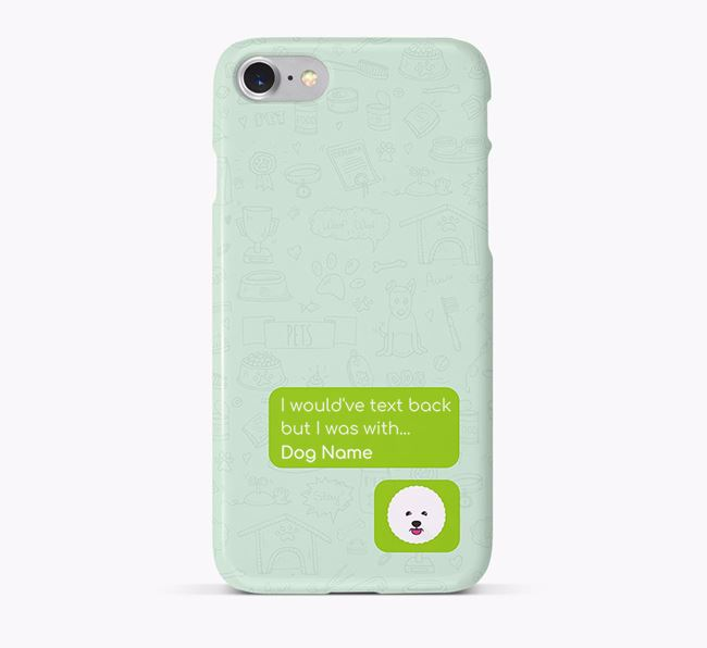 'Text Back' Phone Case with Bichon Frise Icon