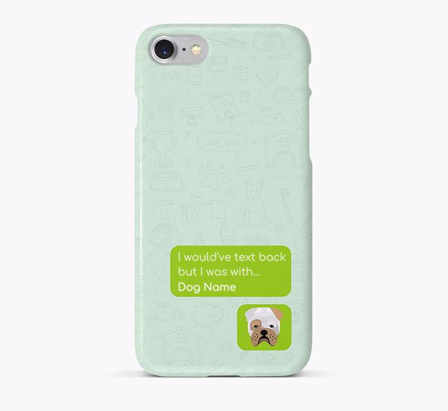 'Text Back' Phone Case with Bull Pei Icon
