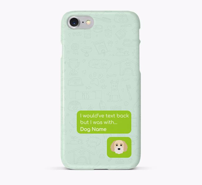 'Text Back' Phone Case with Cavapoochon Icon