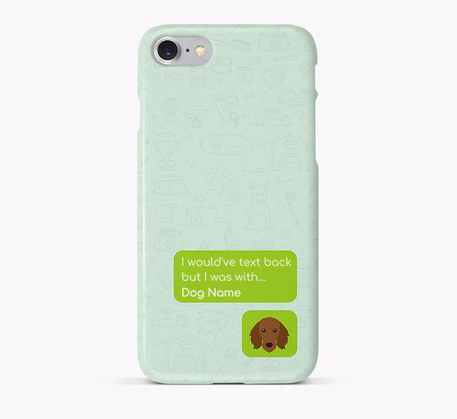 'Text Back' Phone Case with Dachshund Icon