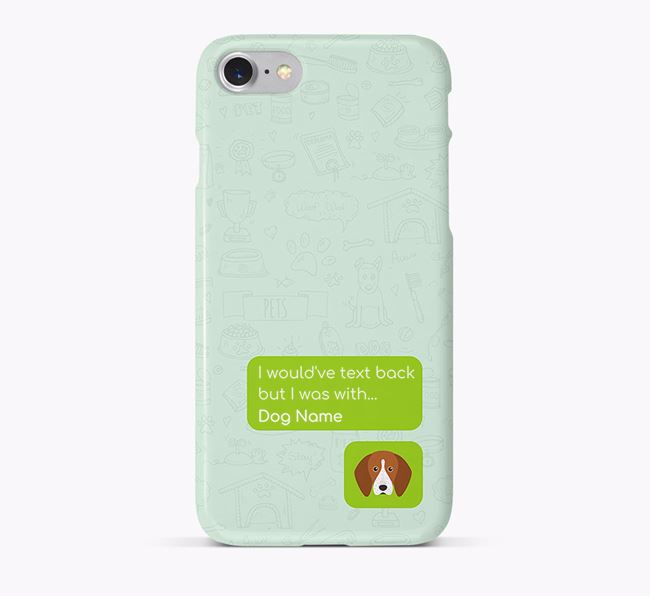 'Text Back' Phone Case with English Coonhound Icon