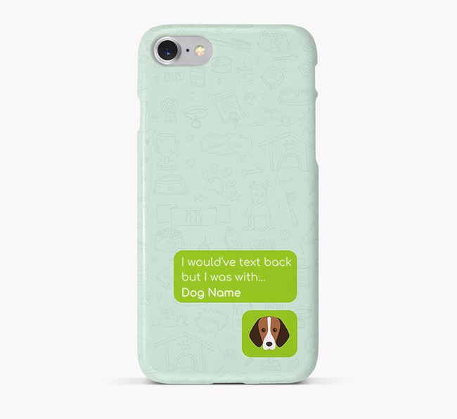 'Text Back' Phone Case with Foxhound Icon