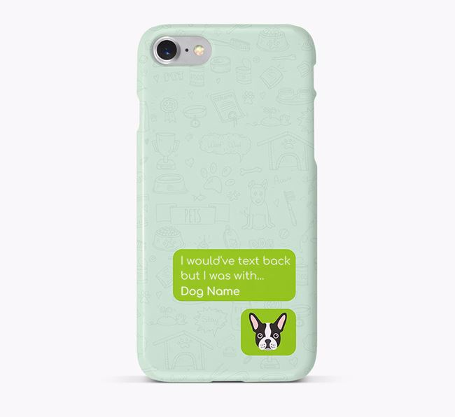 'Text Back' Phone Case with French Bulldog Icon