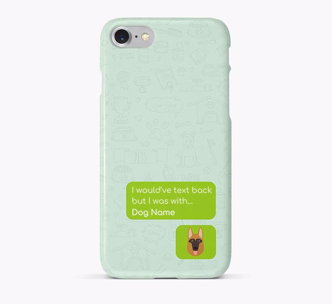 'Text Back' Phone Case with Dog Icon