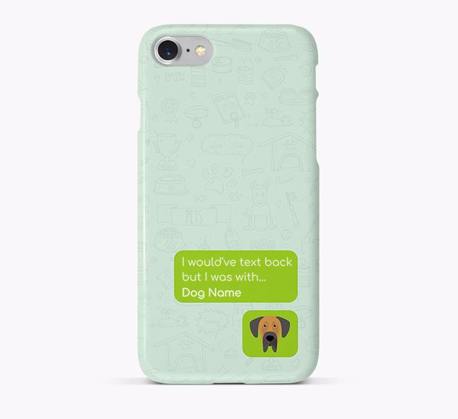 'Text Back' Phone Case with Great Dane Icon