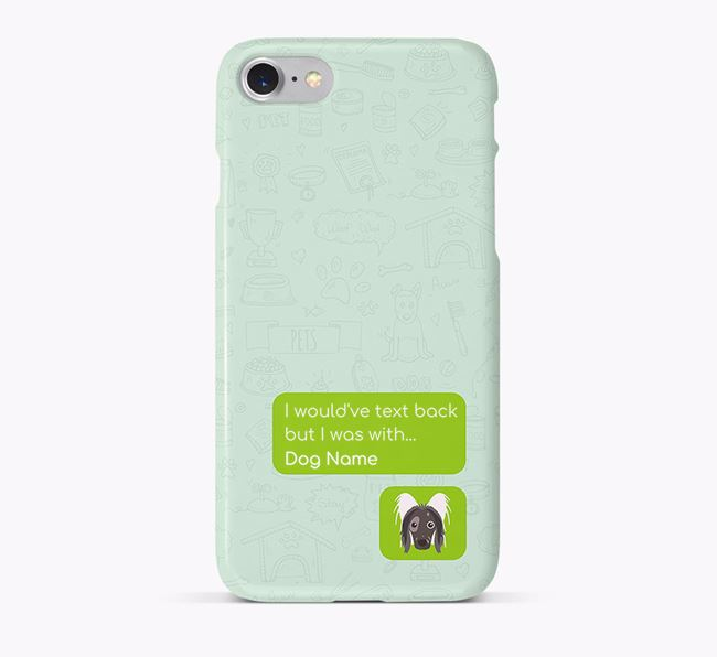 'Text Back' Phone Case with Hairless Chinese Crested Icon