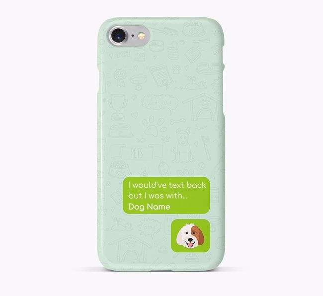 'Text Back' Phone Case with Labradoodle Icon