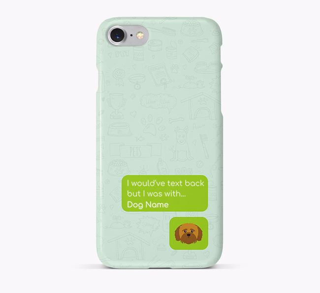 'Text Back' Phone Case with Shih-poo Icon