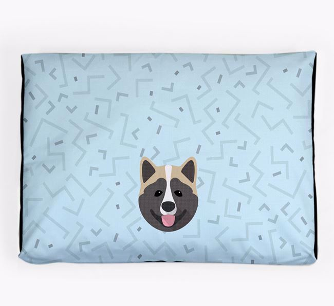 Personalised Minimal Dog Bed with Akita Icon
