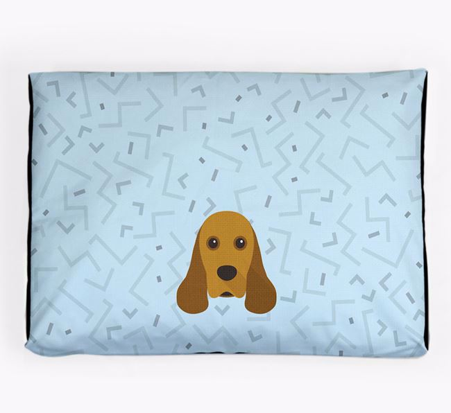 Personalised Minimal Dog Bed with American Cocker Spaniel Icon