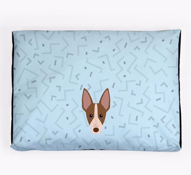 Personalised Minimal Dog Bed with American Hairless Terrier Icon