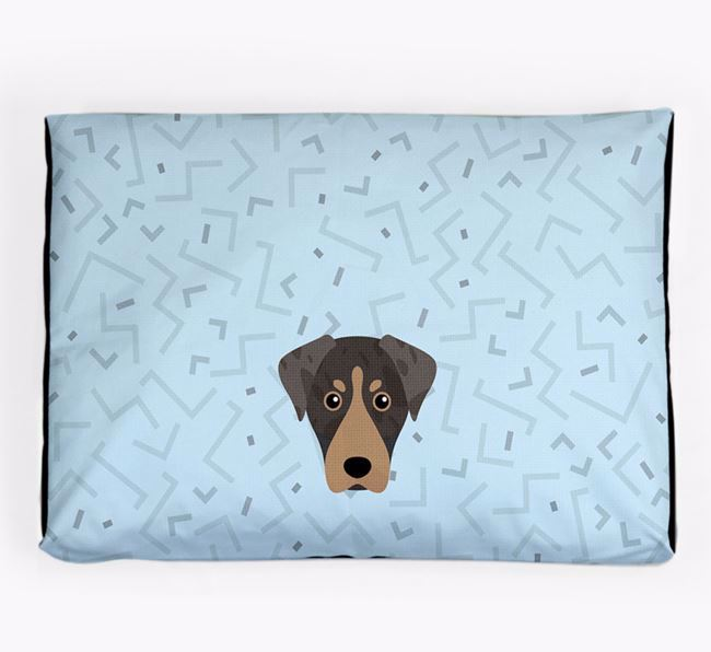 Personalised Minimal Dog Bed with American Leopard Hound Icon