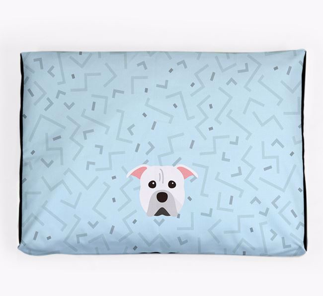 Personalised Minimal Dog Bed with American Pit Bull Terrier Icon
