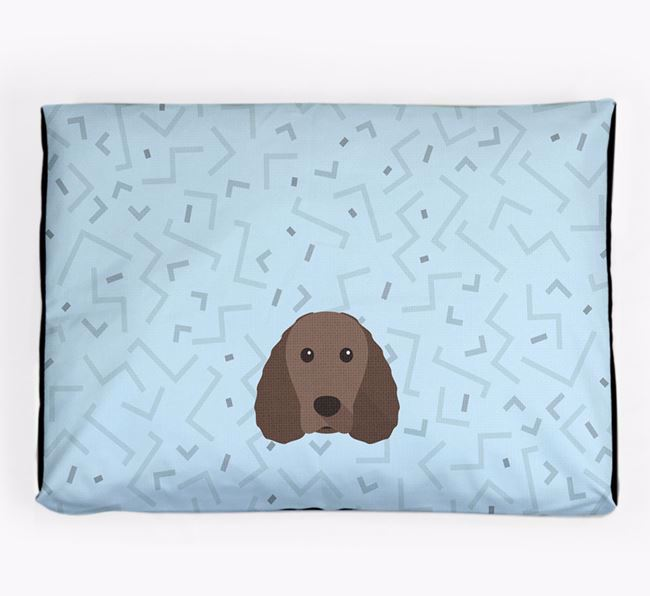 Personalised Minimal Dog Bed with American Water Spaniel Icon