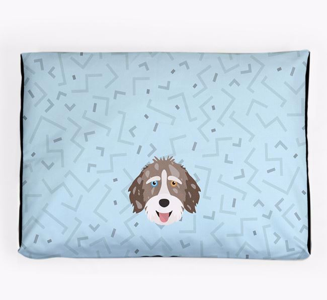 Personalised Minimal Dog Bed with Aussiedoodle Icon
