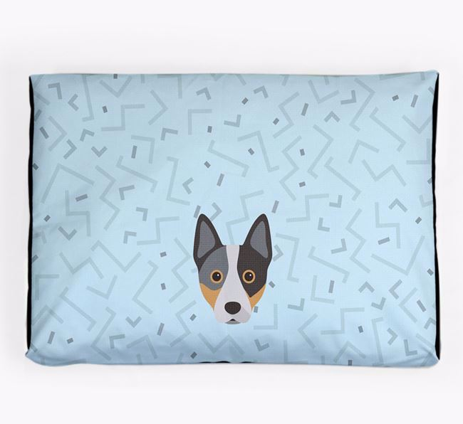 Personalised Minimal Dog Bed with Australian Cattle Dog Icon