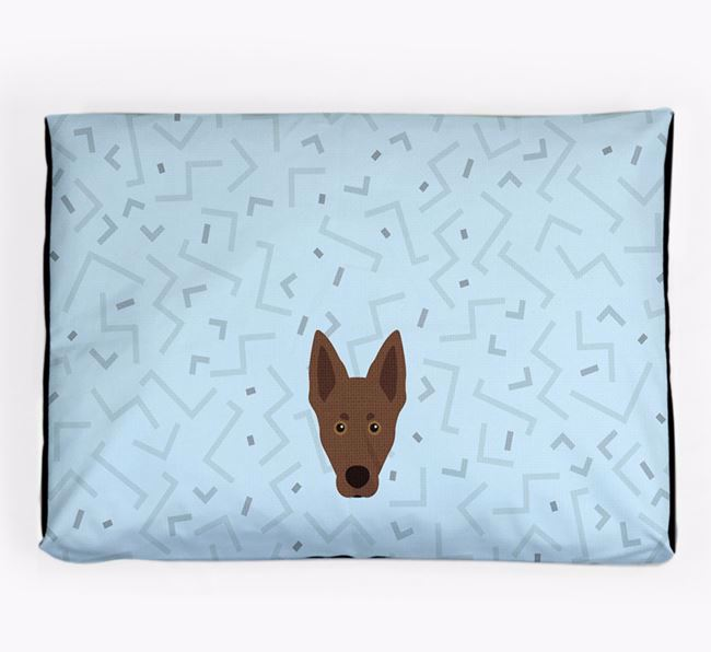Personalised Minimal Dog Bed with Australian Kelpie Icon