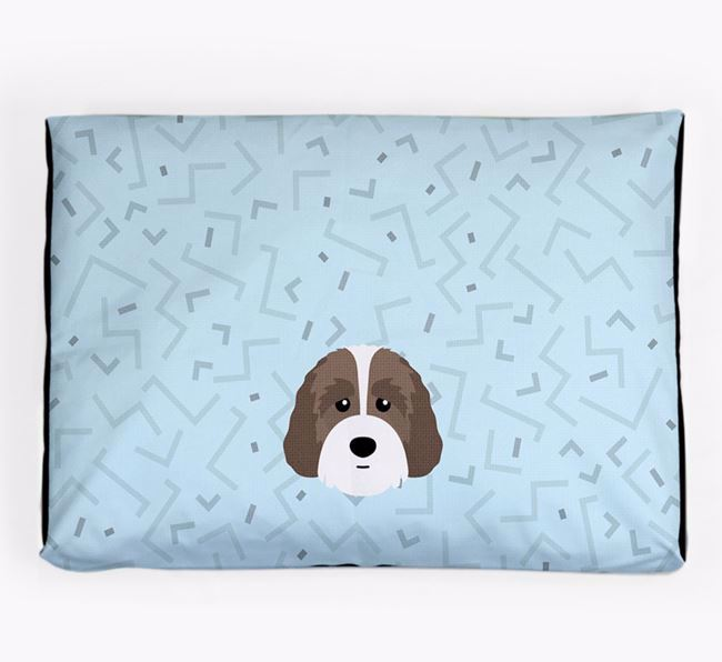 Personalised Minimal Dog Bed with Australian Labradoodle Icon
