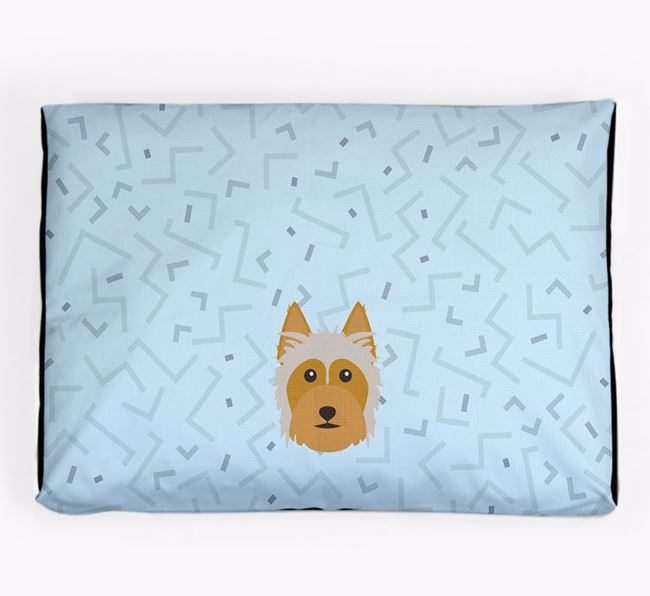 Personalised Minimal Dog Bed with Australian Silky Terrier Icon